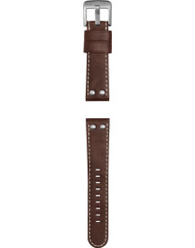 Reddish Brown Leather Strap With afbeelding