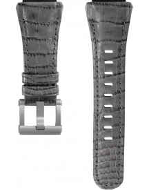 Strap For Ceo Tech Dc Grey Croco Leather afbeelding