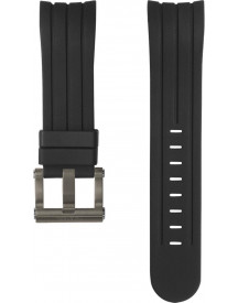 Straps Tech Black Silicon Strap 48mm afbeelding