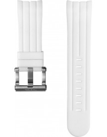 White Silicon Strap 22 Mm afbeelding