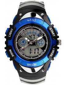 West Watch – Multifunctioneel Horloge -  Model Snow – Blauw afbeelding