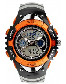 West Watch – Multifunctioneel Horloge -  Model Snow – Oranje afbeelding