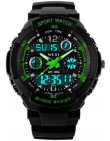 West Watch – Multifunctioneel Sport Horloge - Model Storm – Groen afbeelding