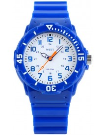 West Watch – Sportief Analoog Kinderhorloge - Model Moon –  Blauw afbeelding