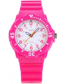 West Watch – Sportief Analoog Kinderhorloge - Model Moon –  Roze afbeelding
