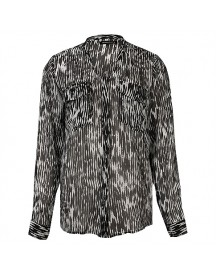 Second Female Wy Printed Sheer Shirt L/s Blouses afbeelding