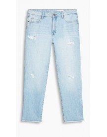 Esprit Ankle Jeans Met Distressed Effecten Blue Light Washed For Women afbeelding