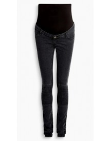 Esprit Bikerjeans Met Stretch, Bovenbuikband Black Dark Washed For Women afbeelding