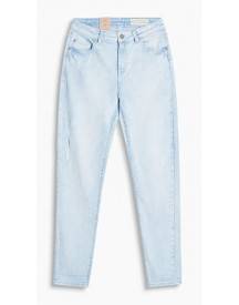 Esprit Bleached Stretchjeans In Used Look Blue Bleached For Women afbeelding