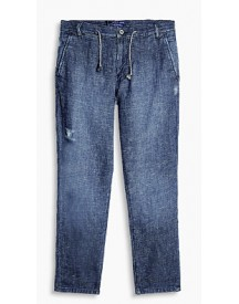 Esprit Casual Jeans Met Linnen Blue Light Washed For Men afbeelding