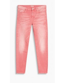 Esprit Coloured Stretchjeans Met Stiksels Pink Fuchsia For Women afbeelding