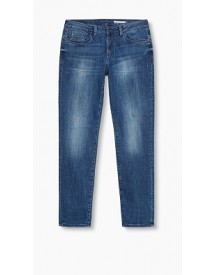 Esprit Cropped Boyfriend Stretchjeans Blue Medium Washed For Women afbeelding