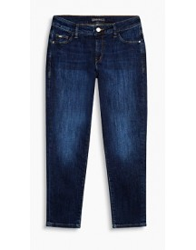 Esprit Dark Denim Capri Met Comfortabele Stretch Blue Rinse For Women afbeelding