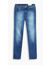 Esprit High-rise Jeans Met Veel Stretch Blue Medium Washed For Women afbeelding