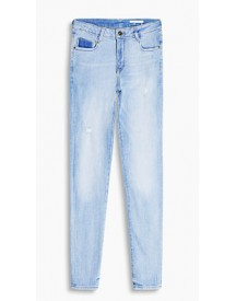 Esprit High Waist Stretchjeans Blue Light Washed For Women afbeelding