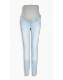 Esprit Stretchjeans Met Band Over De Buik Light Washed For Women afbeelding
