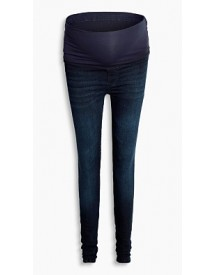 Esprit Jegging Van Dark Denim, Band Over De Buik Blue Dark Washed For Women afbeelding