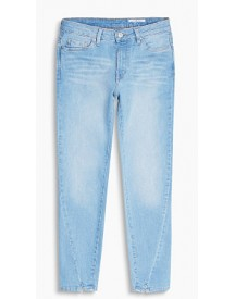 Esprit Kortere Jeans Van Stretchy Denim Blue Bleached For Women afbeelding