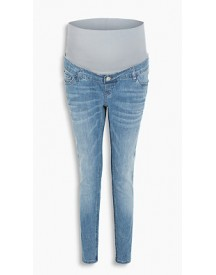 Esprit Kortere Stretchjeans, Band Over De Buik Medium Washed For Women afbeelding