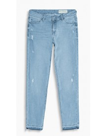 Esprit Softe Stretchjeans Met Used Look Blue Light Washed For Women afbeelding