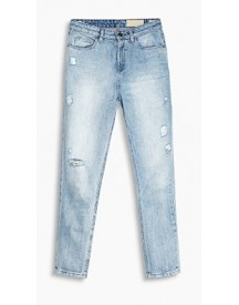 Esprit Retrocollectie - Destroyed Jeans Blue Medium Washed For Women afbeelding