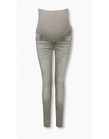 Esprit Stretchjeans Met Band Over De Buik Grey Denim For Women afbeelding