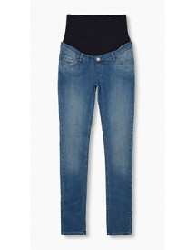 Esprit Stretchjeans Met Band Over De Buik Medium Washed For Women afbeelding