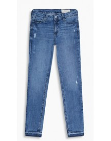Esprit Stretchjeans Met Used Look Blue Medium Washed For Women afbeelding