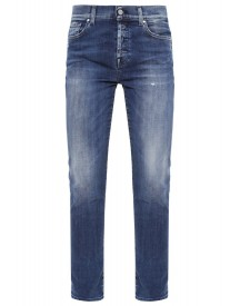 7 For All Mankind Josefina Relaxed Fit Jeans Blue Denim afbeelding