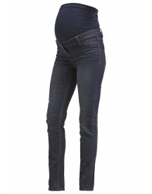 Anna Field Mama Straight Leg Jeans Dark Blue Denim afbeelding
