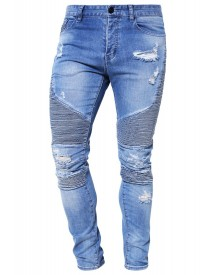 Cayler & Sons Slim Fit Jeans Distressed Light Blue afbeelding