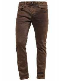 Gstar 3301 Slim Coj Slim Fit Jeans Dark Hide Brown afbeelding