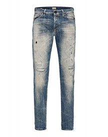 Jack & Jones Mike Straight Leg Jeans Blue Denim afbeelding