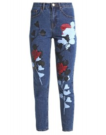 Lost Ink Slim Fit Jeans Dark Denim afbeelding
