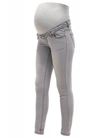 Mama Licious Mlida Slim Fit Jeans Light Grey Denim afbeelding