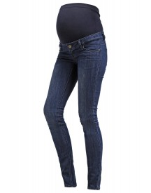 Mama Licious Shelly Slim Fit Jeans Dark Blue Denim afbeelding