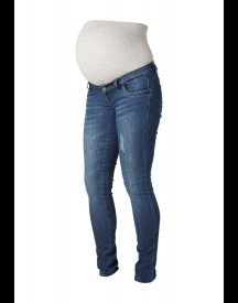 Mama Licious Slim Fit Jeans Dark Blue Denim afbeelding