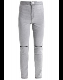 Missguided Petite Vice Slim Fit Jeans Light Grey afbeelding