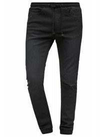 Nana Judy Relaxed Fit Jeans Worn Classic Black Distressed afbeelding