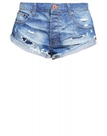 One Teaspoon Bandits Jeansshort Blue Cult afbeelding