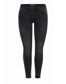 Only Coral Slim Fit Jeans Black afbeelding