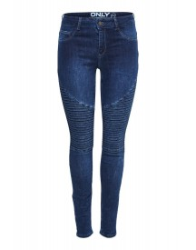 Only Coral Slim Fit Jeans Dark Blue Denim afbeelding
