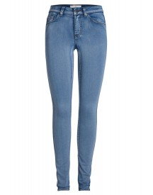 Pieces Slim Fit Jeans Medium Blue Denim afbeelding