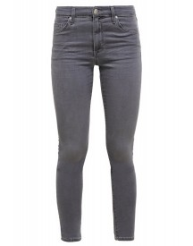 Topshop Leigh Slim Fit Jeans Grey Denim afbeelding