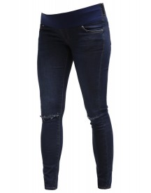 Topshop Leigh Slim Fit Jeans Navy Blue afbeelding
