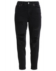 Topshop Relaxed Fit Jeans Washed Black afbeelding