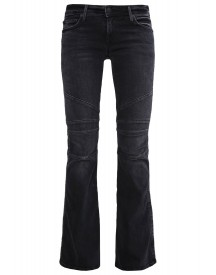 True Religion Karlie Moto Flared Jeans Grey Denim afbeelding