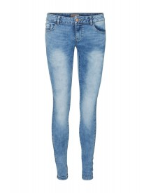 Vero Moda Slim Fit Jeans Light Blue Denim afbeelding