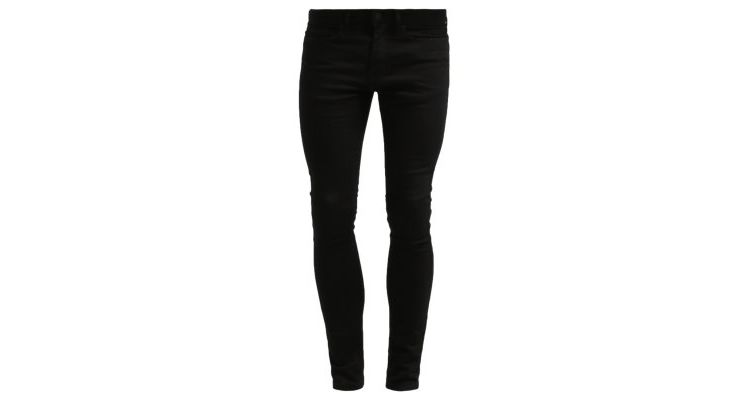 Image Topman Spray On Skinny Black Slim Fit Jeans Black