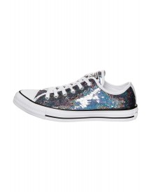 Converse Chuck Taylor All Star Sneakers Laag Gunmetal/white/black afbeelding